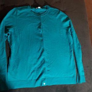 Charter Club Teal Button Down Cardigan XL